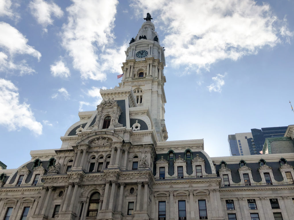 City Hall in Philadelphia, a popular road trip destination