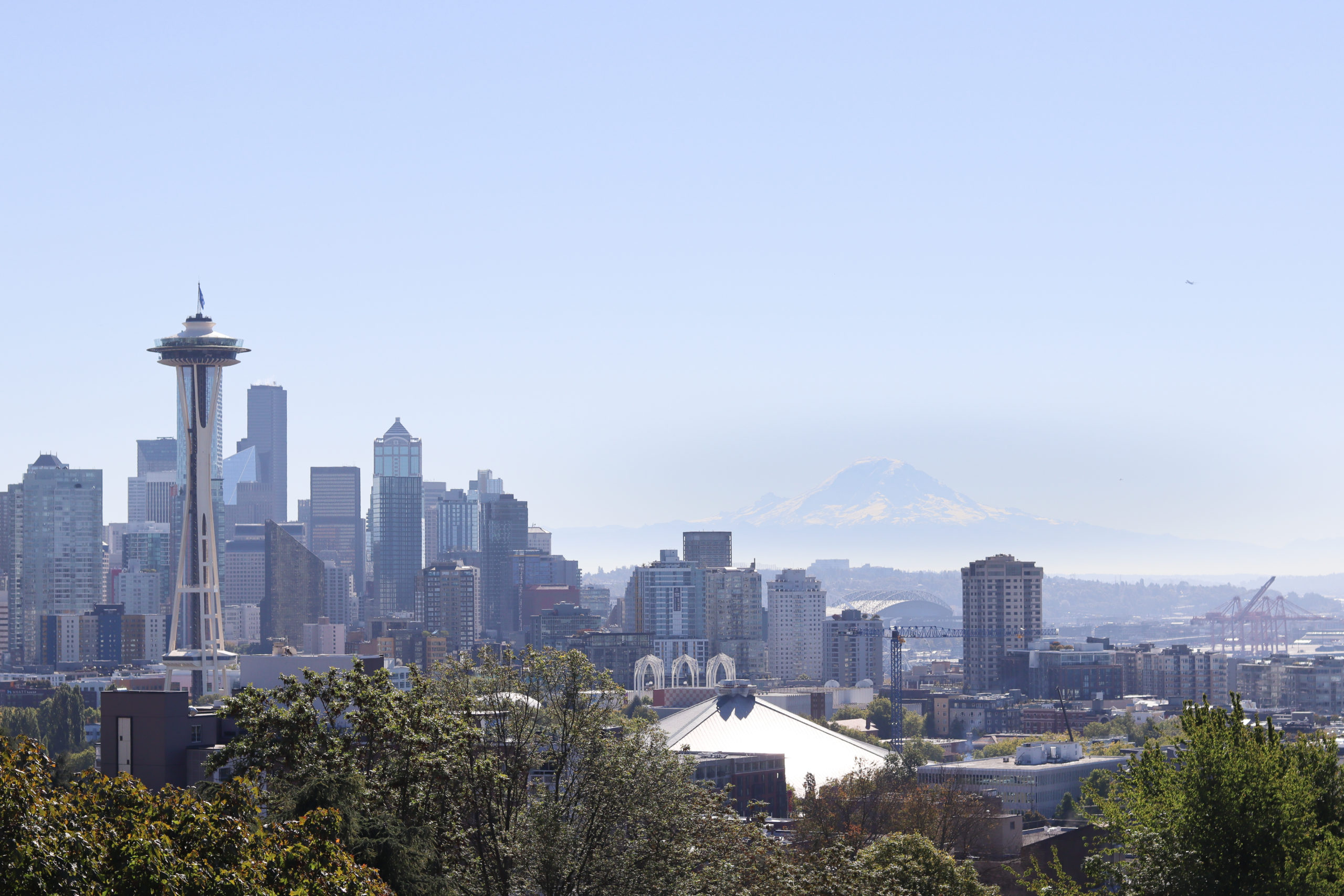 View of Seattle Downtown and Mt. Rainer