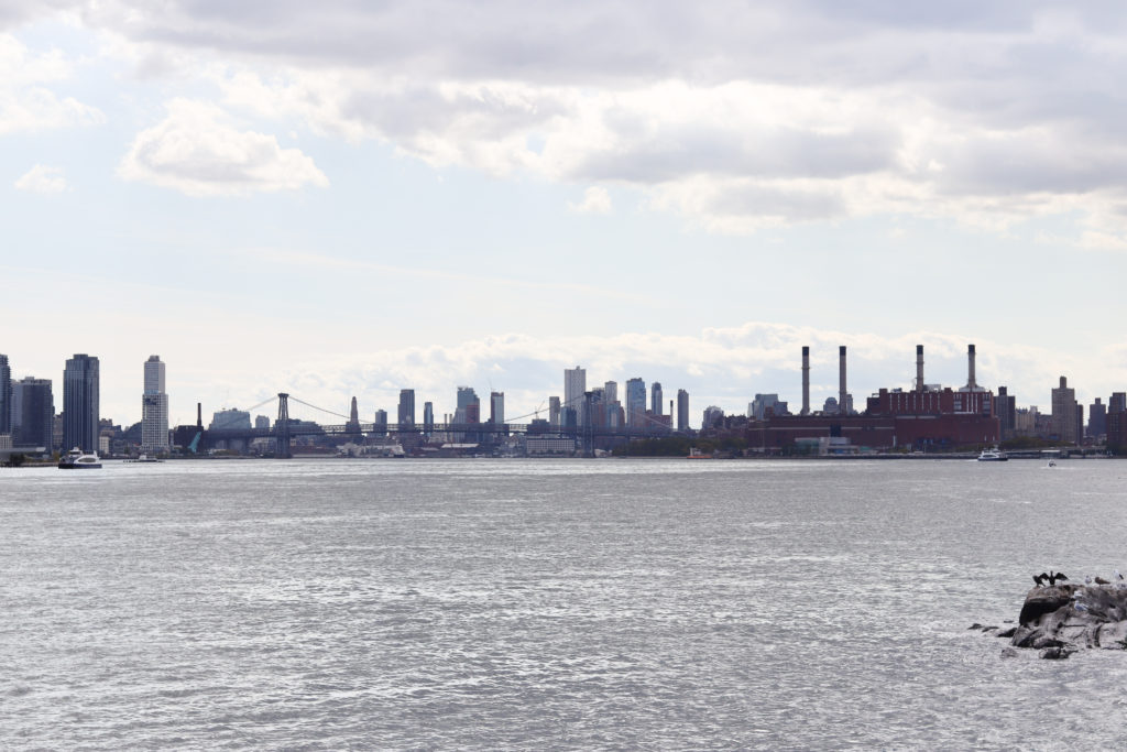 The NYC skyline view from Randall's Island.