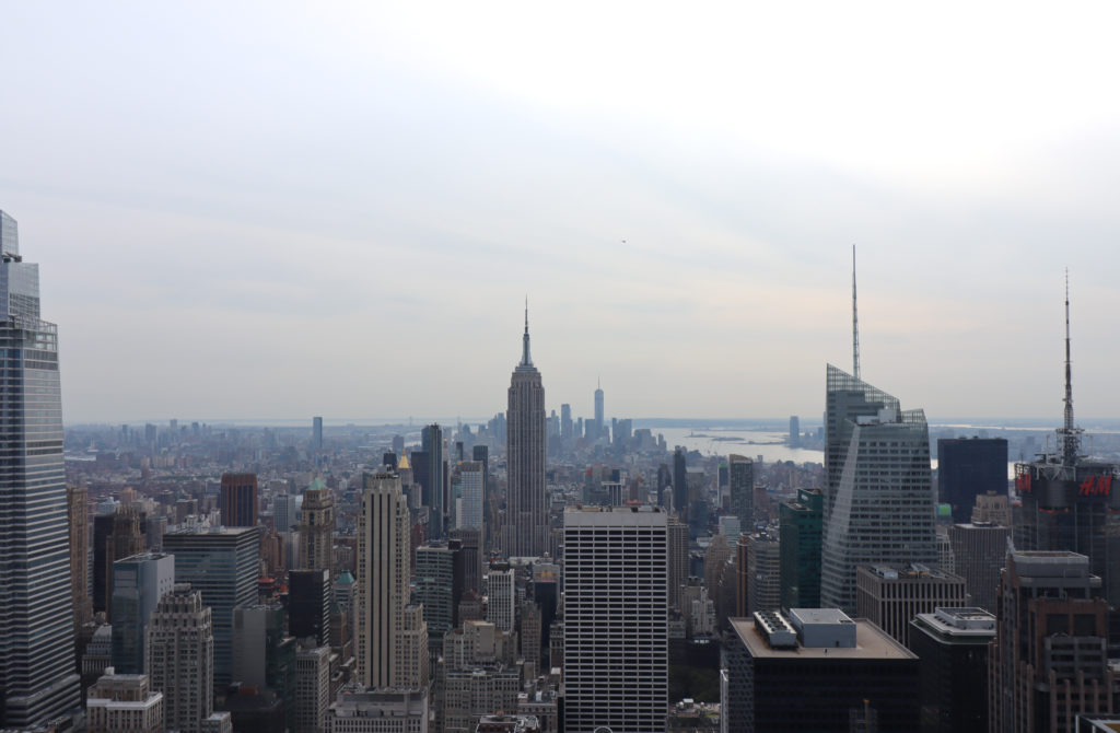 Manhattan skyline from the Top of the Rock