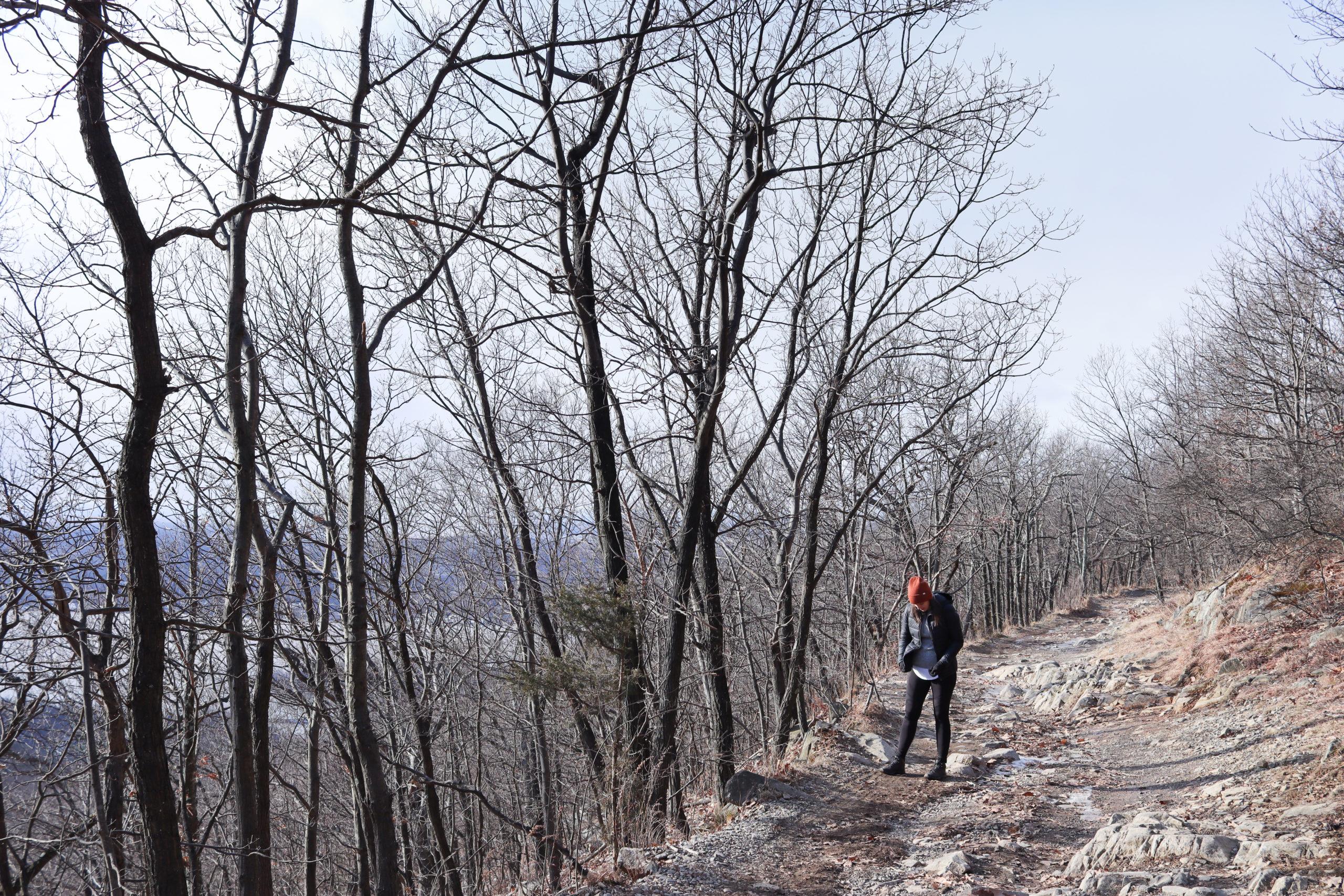 Woman on Mount beacon hike