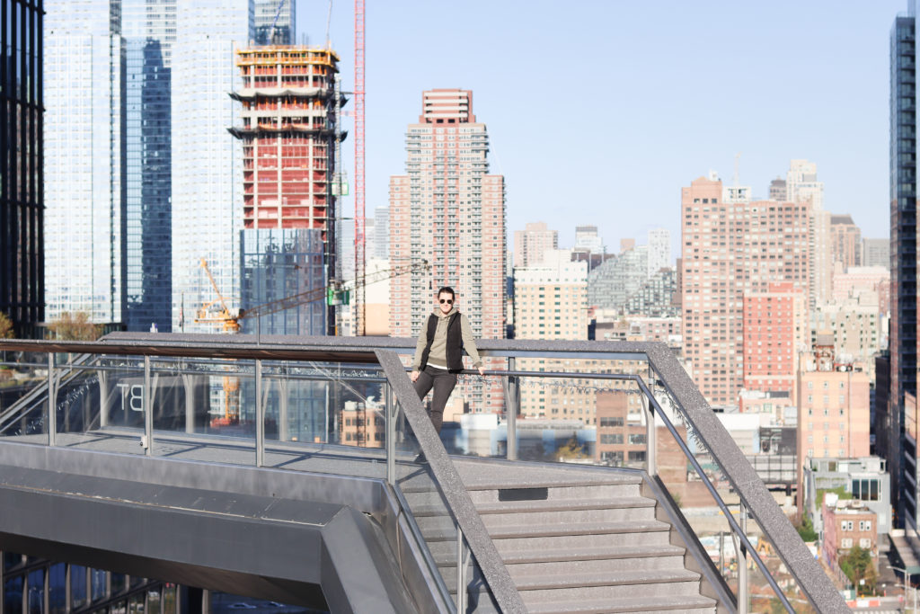 Woman standing on the vessel, one of the Instagram spots in NYC