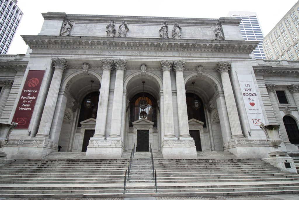 The New York Public Library, one of the Instagram spots in NYC