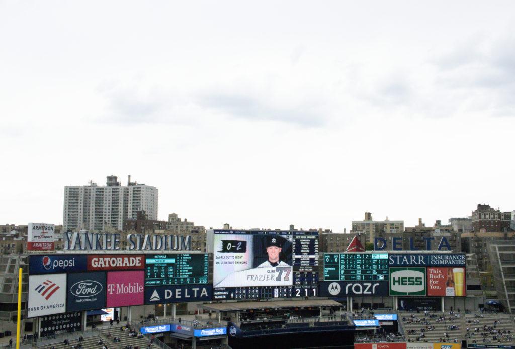 Yankee stadium in the summer
