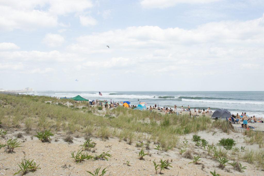 Rockaway beach in the summer