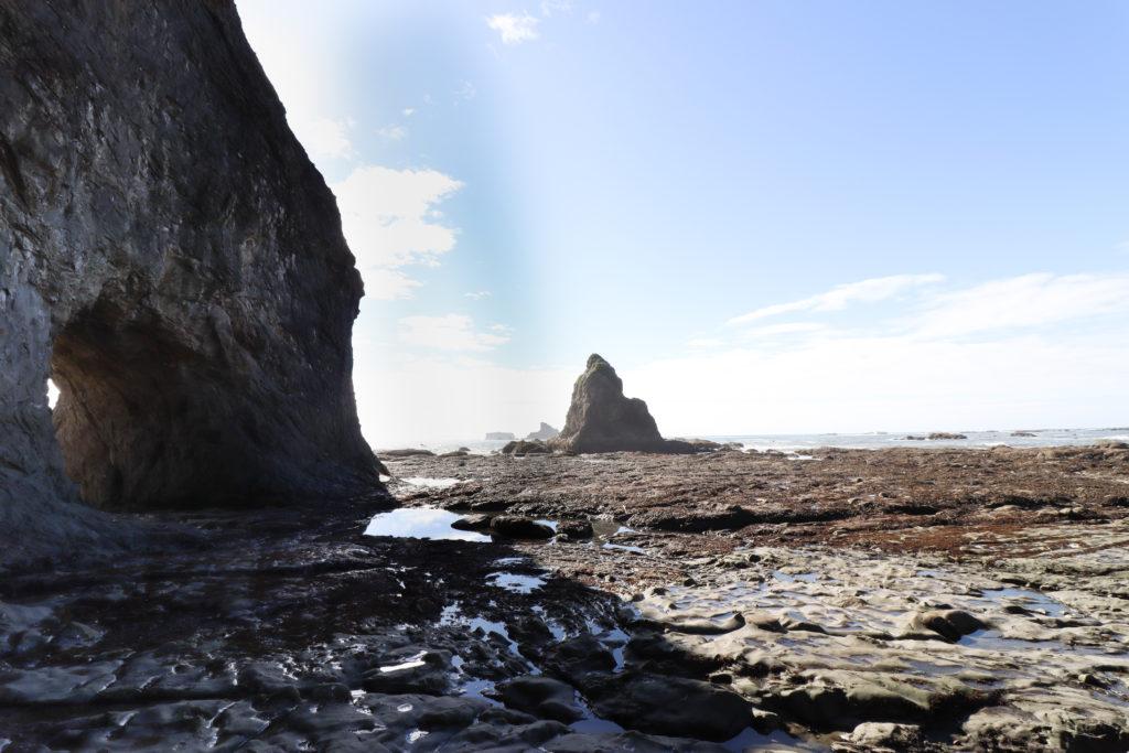 The keyhole rock formation on Rialto Beach