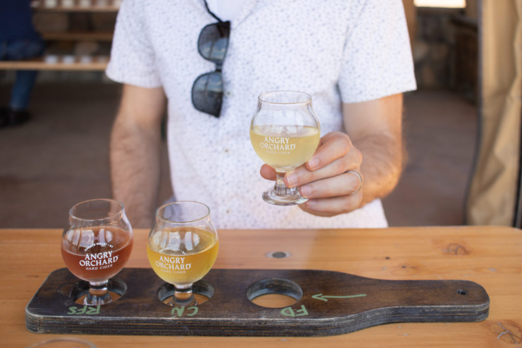 Flight of cider from Angry Orchard