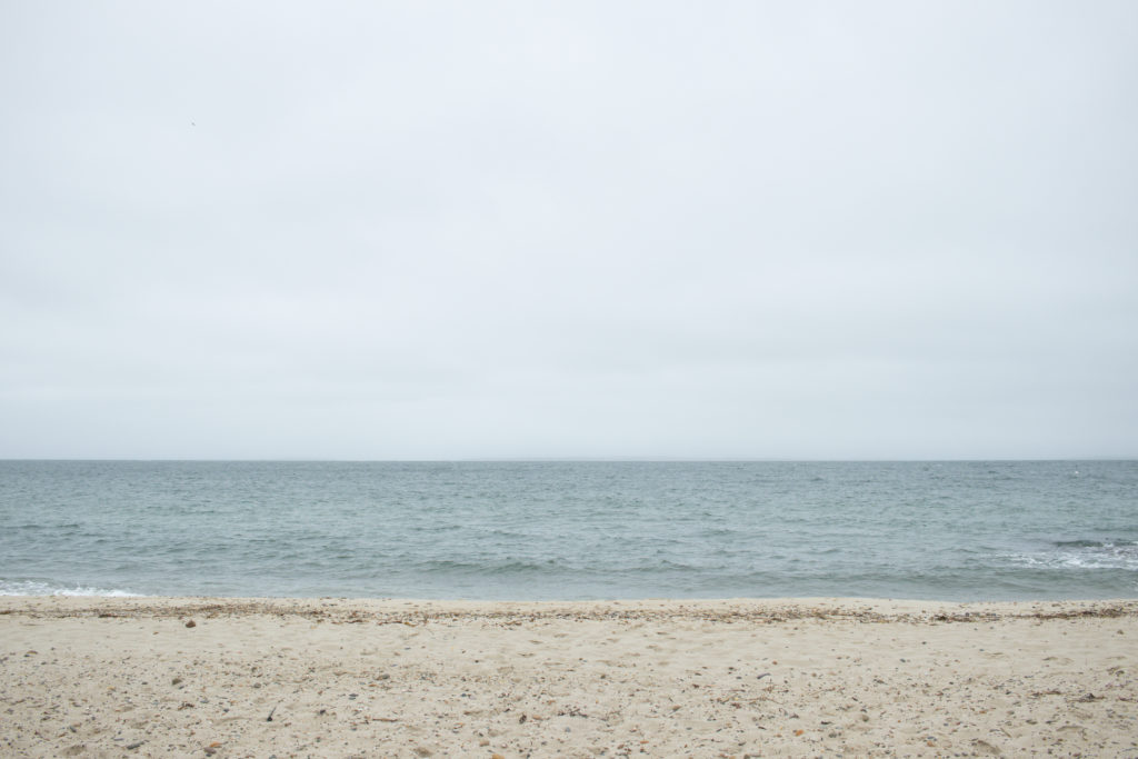 View of the ocean at one of the Sandy Hook beaches.